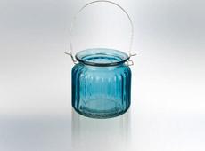 Waxinehouder Blauw, Geel, Roze & Groen